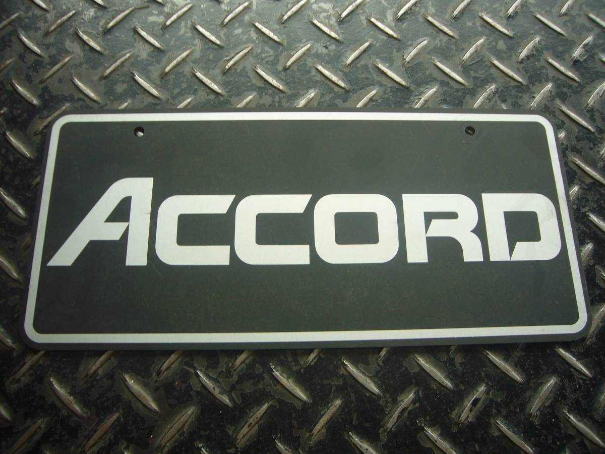Honda old car ACCORD mascot number plate : Real Yahoo auction salling