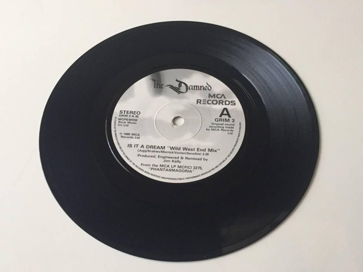 激レア 美品 英国オリジナル 7 シングル The Damned Is It A Dream MCA Records GRIM 3 1985年
