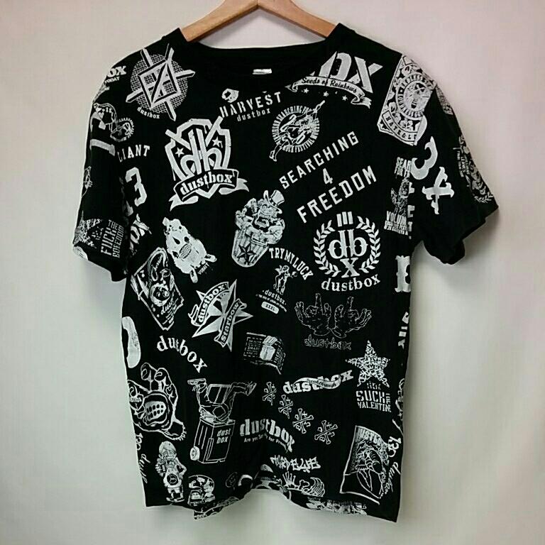 dustbox 歴代ロゴ柄 Tシャツ 総柄 Mサイズ 2778