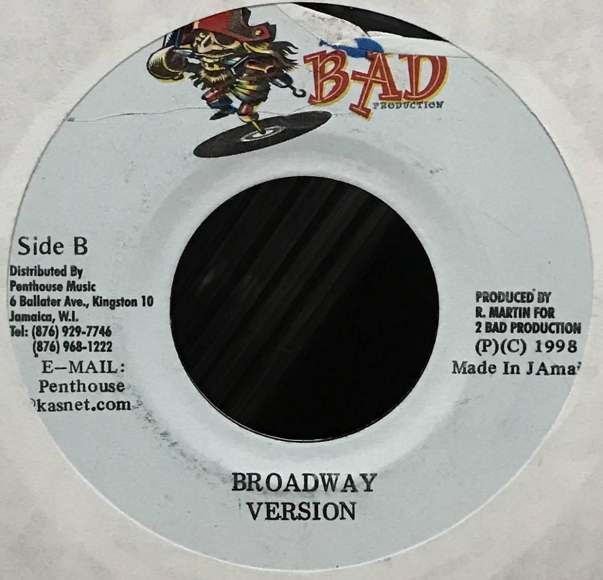 [EP] Mr. Chicken - Sneak Up (Reggae/Dancehall) ☆2 Bad Productions 7インチ/45 シングル レゲエ ダンスホール レコード Vinyl_画像2
