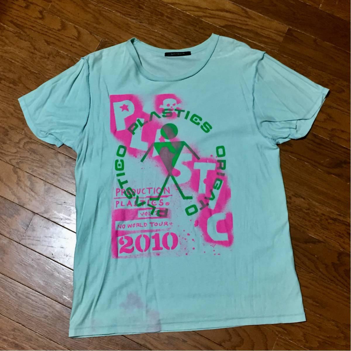 【貴重】PLASTICS x URBAN RESEARCH コラボ Tシャツ プラスチックス 中西俊夫 立花ハジメ 2010年