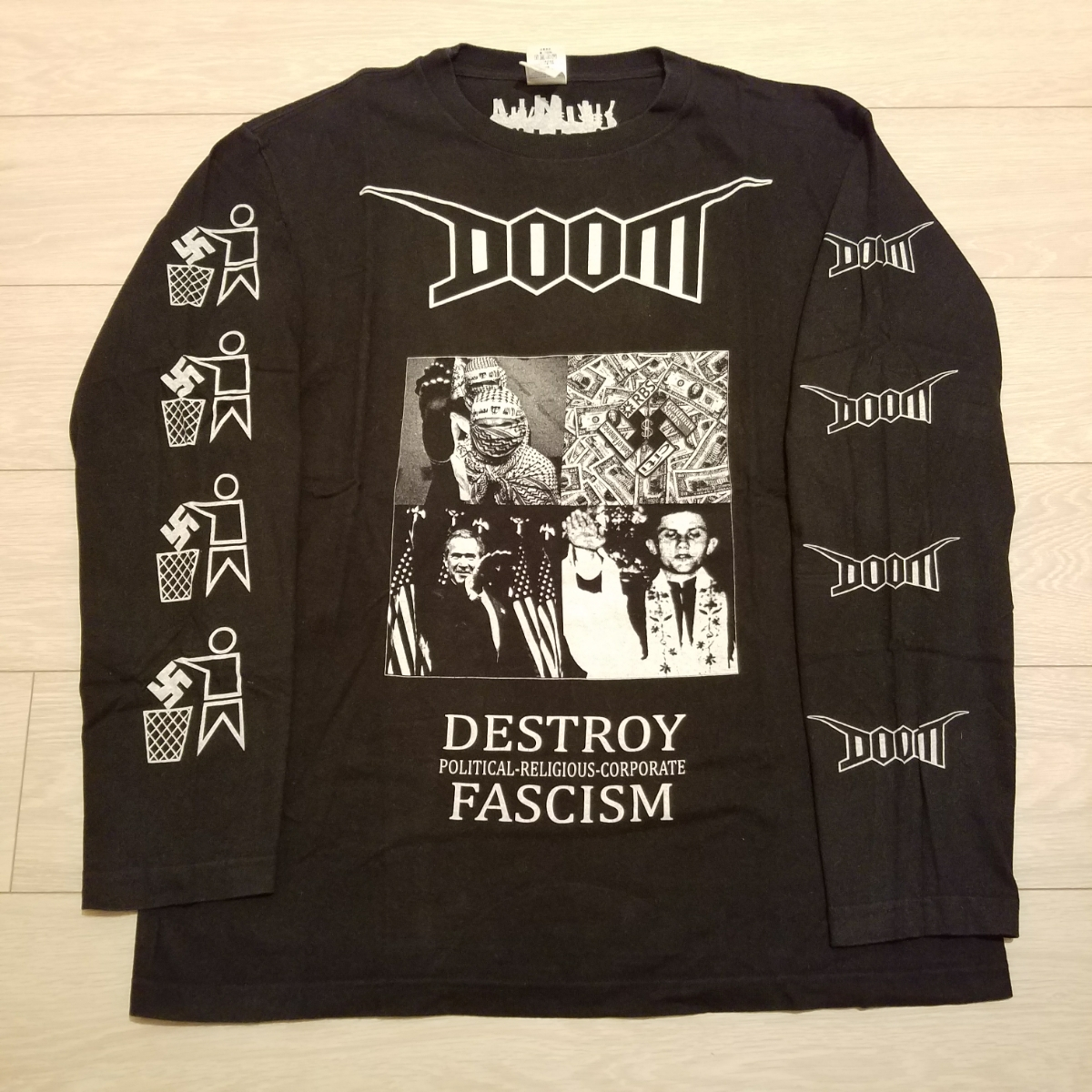 size L / DOOM オフィシャル Tシャツ ⑤ discharge deviated sedition gauze oledickfoggy クラスト