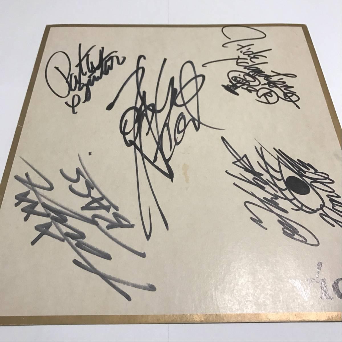 X JAPAN メンバー 直筆サイン 色紙 激レア hide ライブグッズの画像