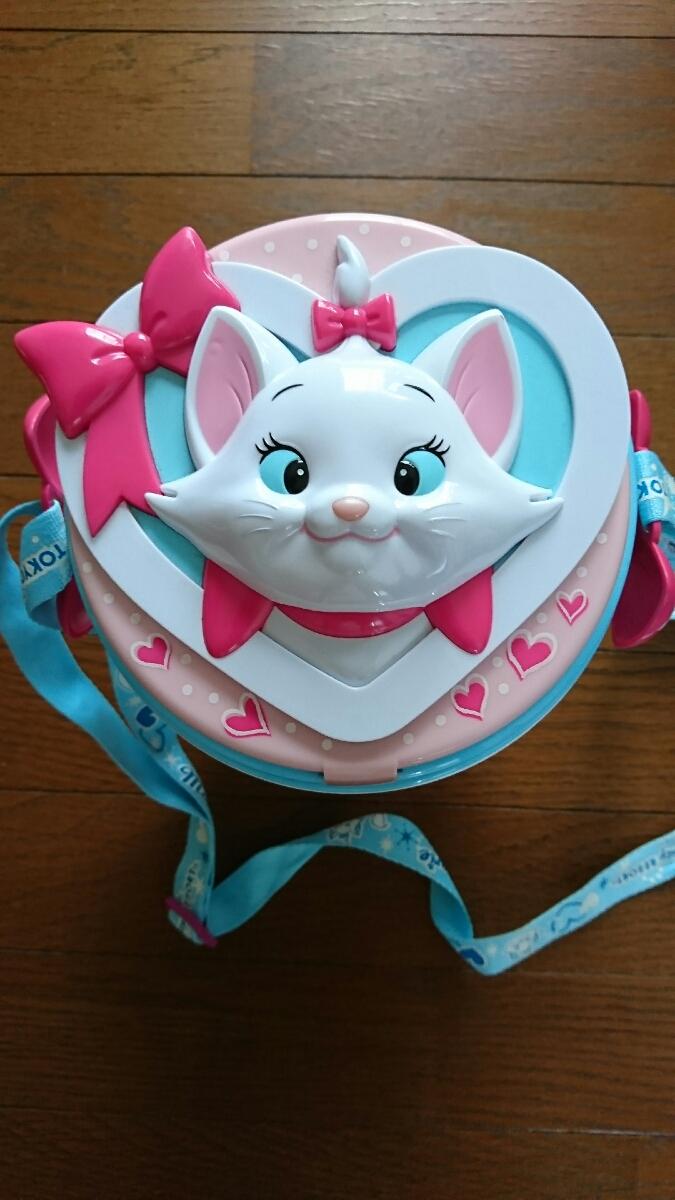即決!ディズニーランド ポップコーン バケツ バケット マリーちゃん TDR おしゃれキャット 白 猫 ネコ しろねこ ディズニーグッズの画像