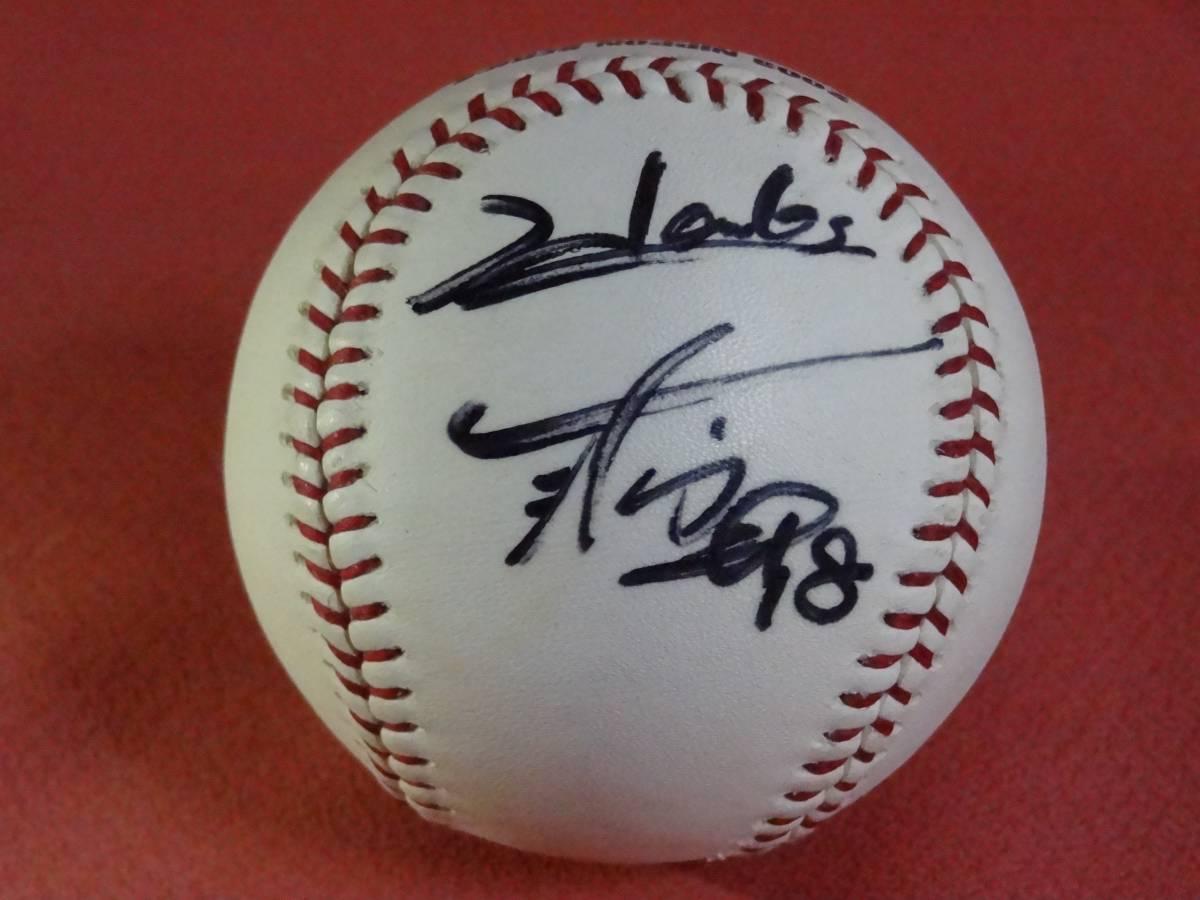 福岡ダイエーホークス時代 新垣投手 2003年 日本シリーズ球 直筆サイン
