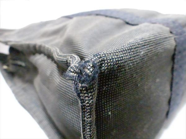 エルメス エールライントートMM ハンドバッグ キャンバス グレー 通勤通学 メンズ レディース カデナ付き_画像3