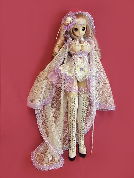 中古 dy胸レースコス 紫色と白色 大人のアリスへ 遊び心の♪伏魔殿 普通郵便込_画像2