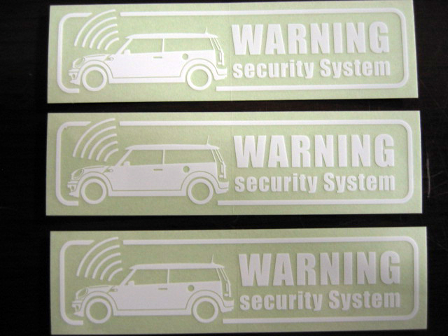 Car Make Another New Mini Clubman R55 Car Security Sticker 3