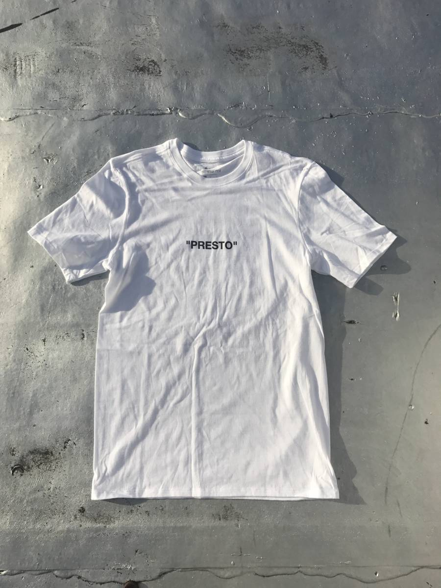 L NIKE x Off-White Virgil Abloh Off Campus PRESTO Tee White NY Pop Up 白 Tシャツ ナイキ オフホワイト