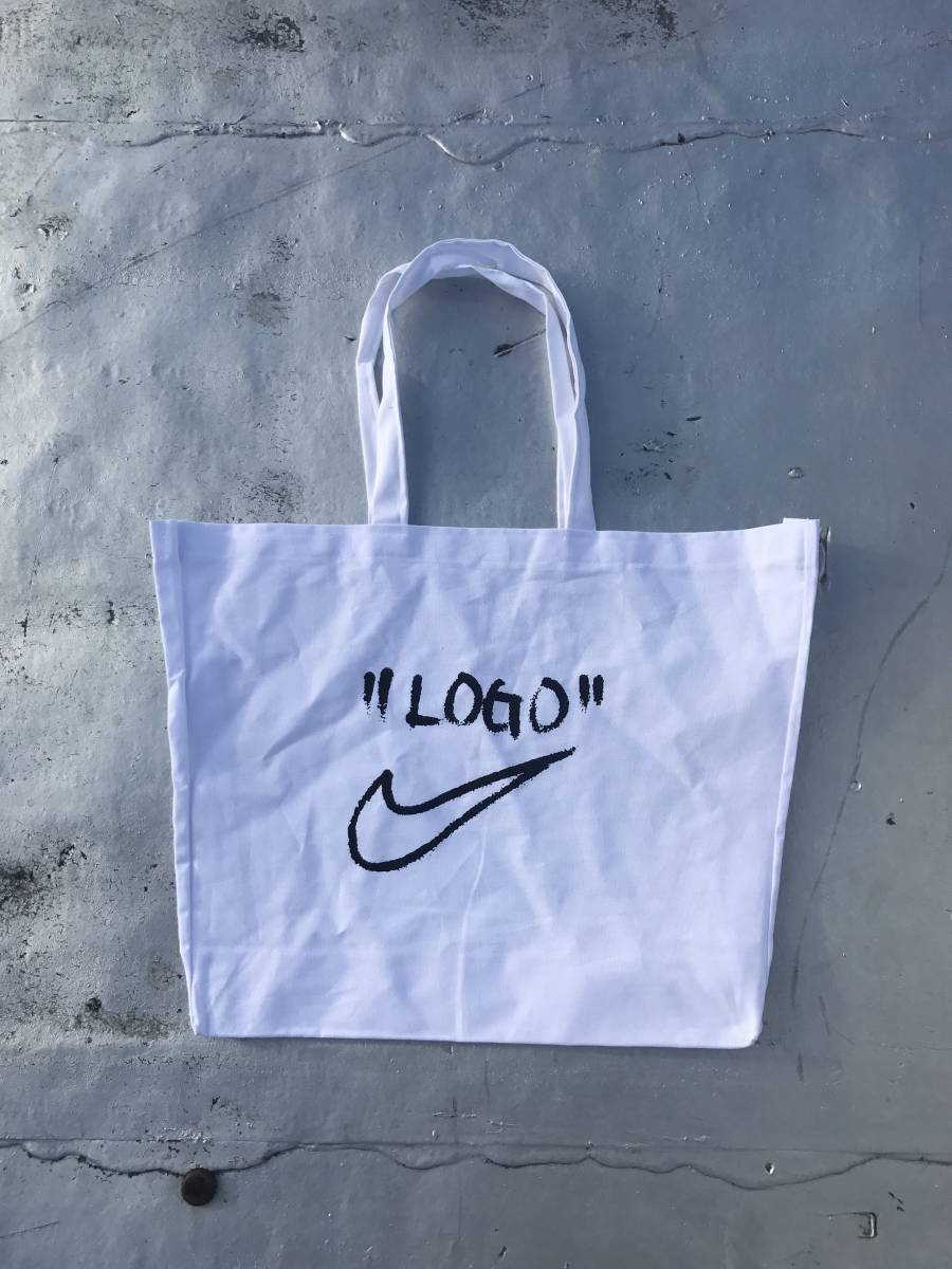 Nike x Off-White Virgil Abloh Off Campus Tote bag Logo White NY Pop Up トートバッグ 白 ロゴ ナイキ オフホワイト
