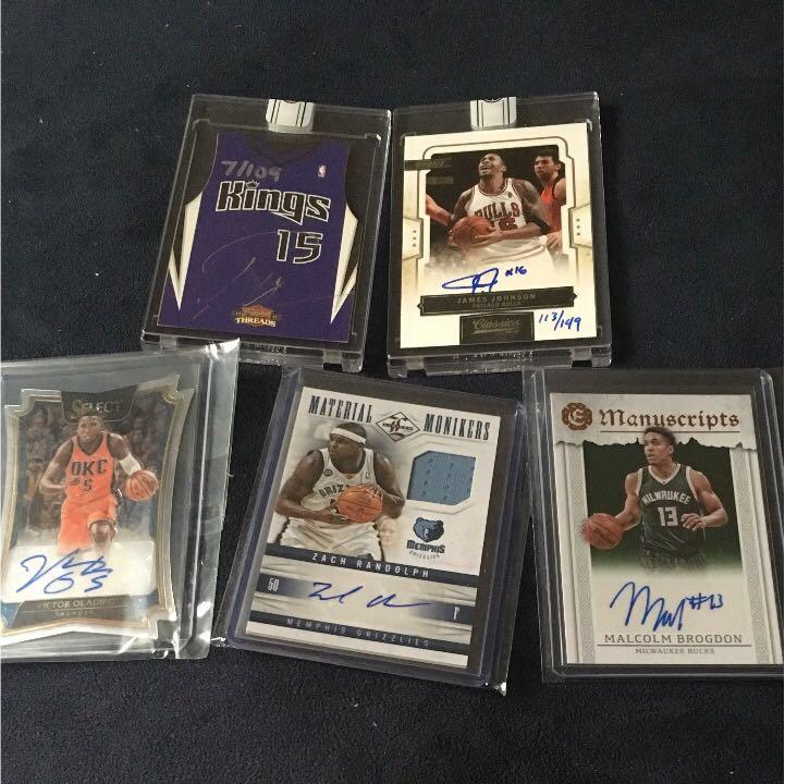 値下げ再出品 NBA カード auto 5枚セット グッズの画像
