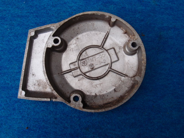 ヤマハMR50 長期放置車の部品 エンジンカバー左 ジェネレーターカバー売り切りです。_画像3
