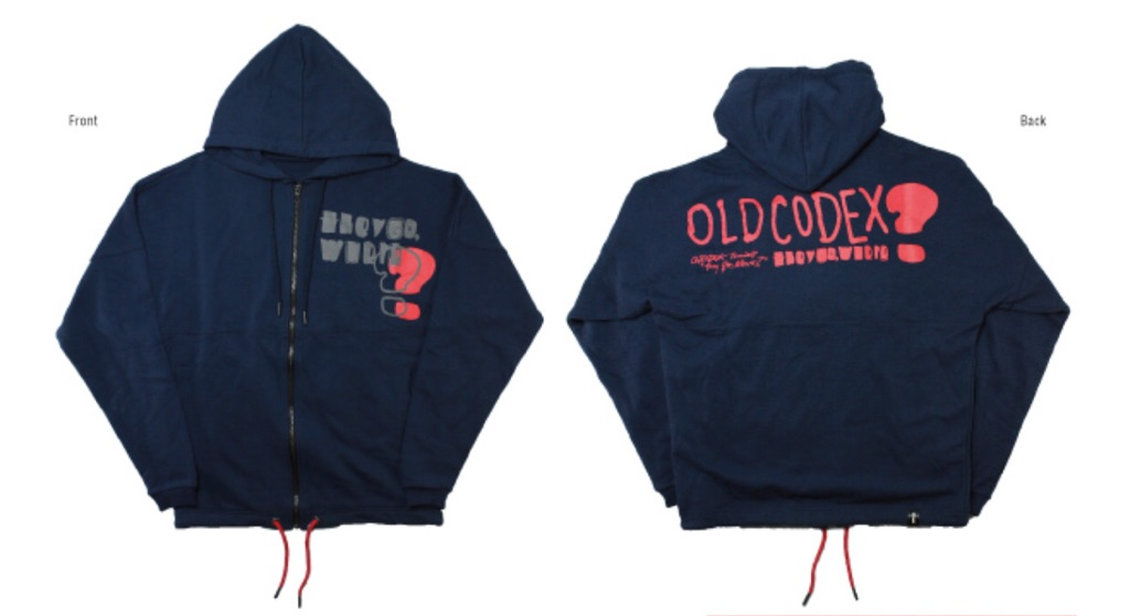 "OLDCODEX Tour 2017 ""they go, Where?"" 公式グッズ OCD HOODIE フーディー パーカー 各サイズ対応!"