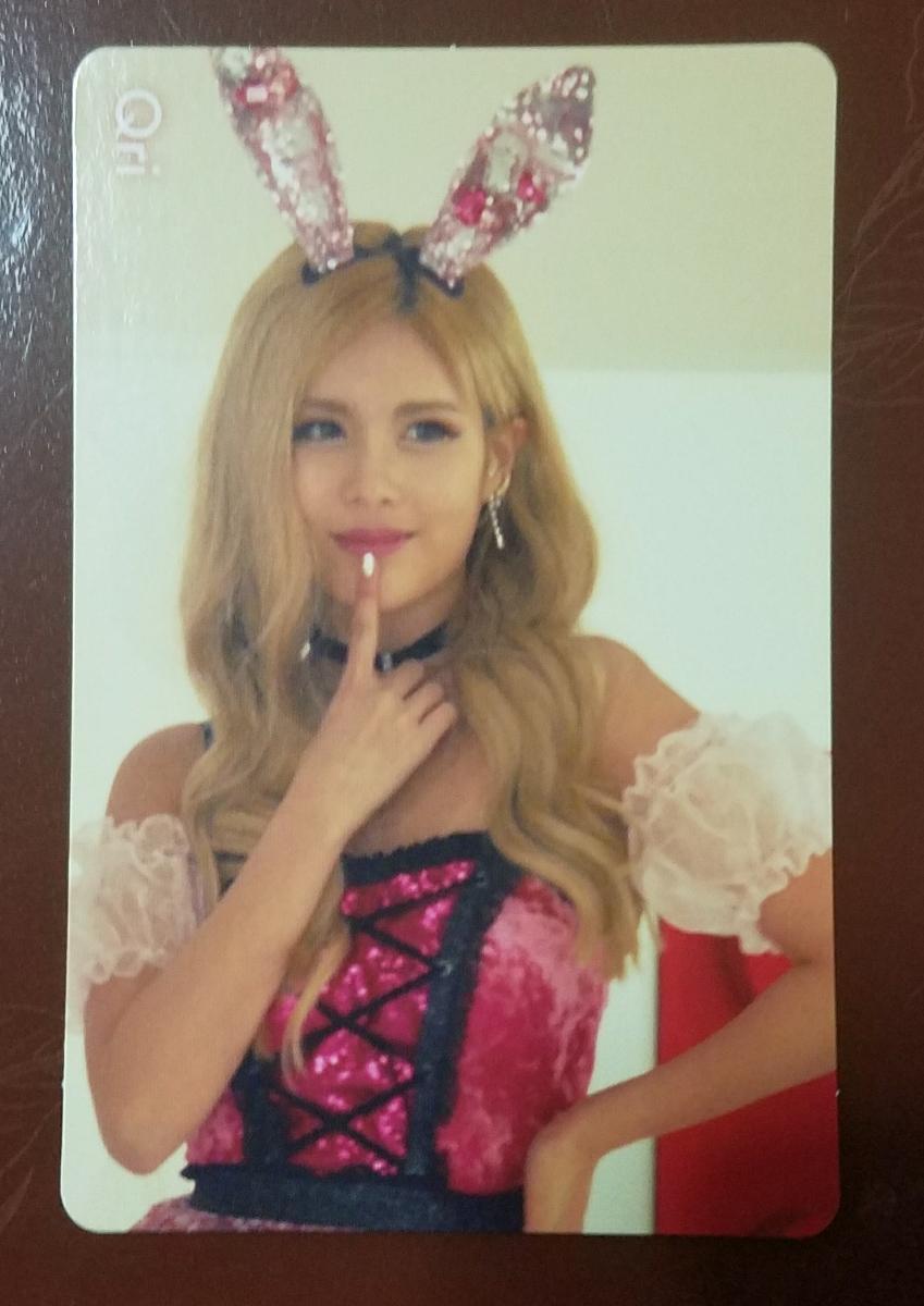 T-ARA キュリ バニスタ! トレカ 通常盤H柄 A 赤 即決 Qri Bunny Style トレーディングカード 日本盤
