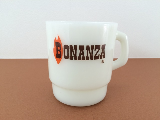 ファイヤーキング BONANZA ボナンザ アドマグ スタッキング マグカップ Fire-king ヴィンテージ [fk-545]_画像1