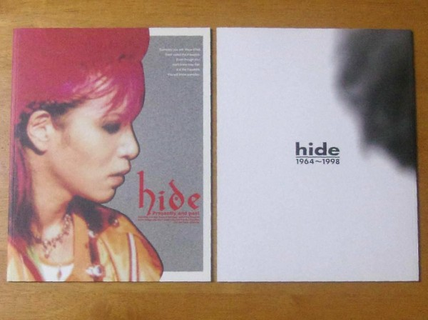 ■ X JAPAN hide 写真集2冊セット 『1964~1998』『Presently and past』 ■ 状態良好 パンフレット