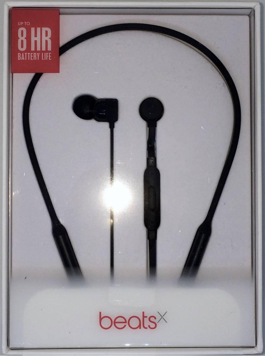 新品未使用「BEATS by Dr.dre BeatsX・ビーツエックス・Blutooth・マイク付・Appleデバイスに特に相性良し Black」