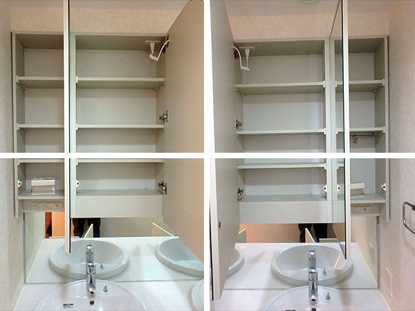 AGP-01 展示品 タカラスタンダード 洗面化粧台 三面鏡付き W1620 H730 D600_画像3