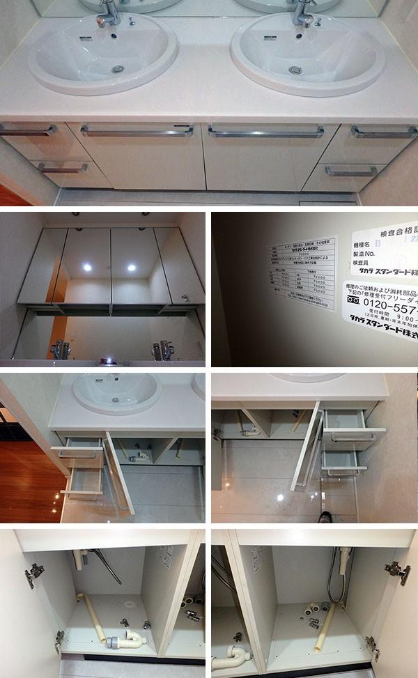 AGP-01 展示品 タカラスタンダード 洗面化粧台 三面鏡付き W1620 H730 D600_画像2