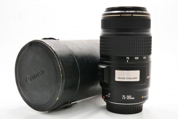 Canon キャノン EF 75-300mm F4-5.6 IS USM 望遠 ズーム レンズ 交換 送料無料 1円オークション