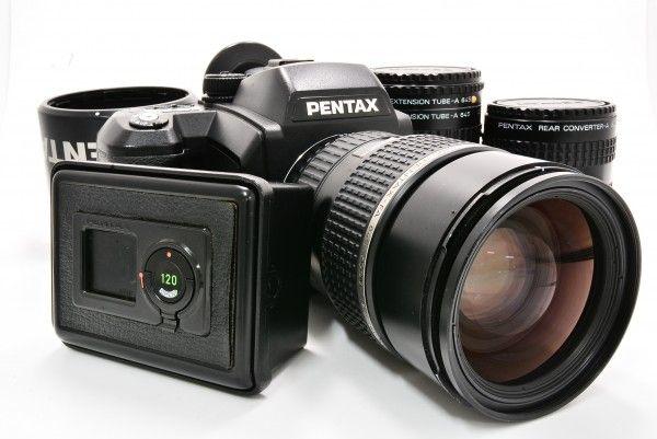 PENTAX ペンタックス 645NⅡ+ smc PENTAX-FA 645 ZOOM 80-160mm F4.5 中判 ブローニー 美中古 付属品 送料無料 1円オークション