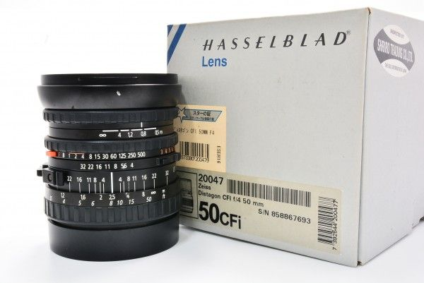 HASSELBLAD ハッセルブラッド Carl Zeiss Distagon CFi 50mm F4 T* 広角 ドイツ フィルター 極上 外箱 送料無料 1円オークション