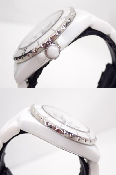 CHANEL シャネル J12 H0970 ハイテク セラミック&ステンレススティール オートマティック 腕時計 ホワイト_画像2