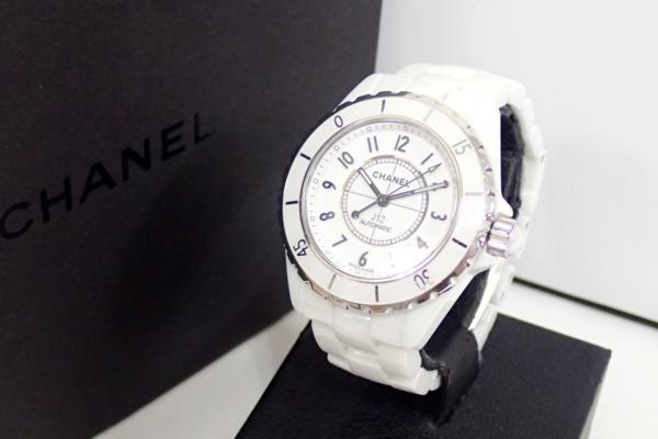 CHANEL シャネル J12 H0970 ハイテク セラミック&ステンレススティール オートマティック 腕時計 ホワイト