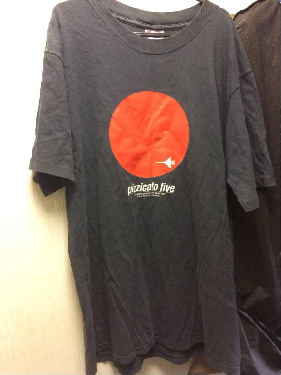 レア 渋谷系 ピチカートファイブ 97年ツアー Tシャツ Lサイズ 小西康陽 野宮真貴