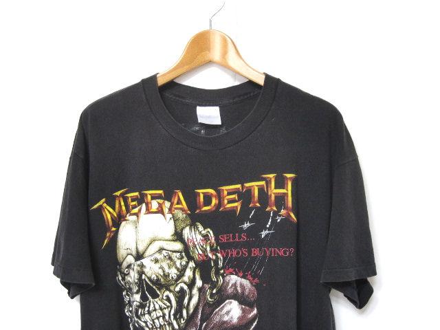 ビンテージ 87年 USA製 XLサイズ【MEGADETH】80s ツアー バンドTシャツ メガデス