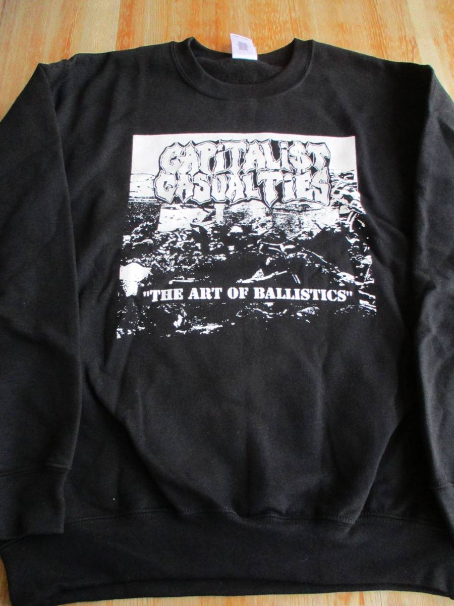 CAPITALIST CASUALTIES スウェット the art of ballistics 黒M / los crudos no comment crossed out despise you infest mk-ultra