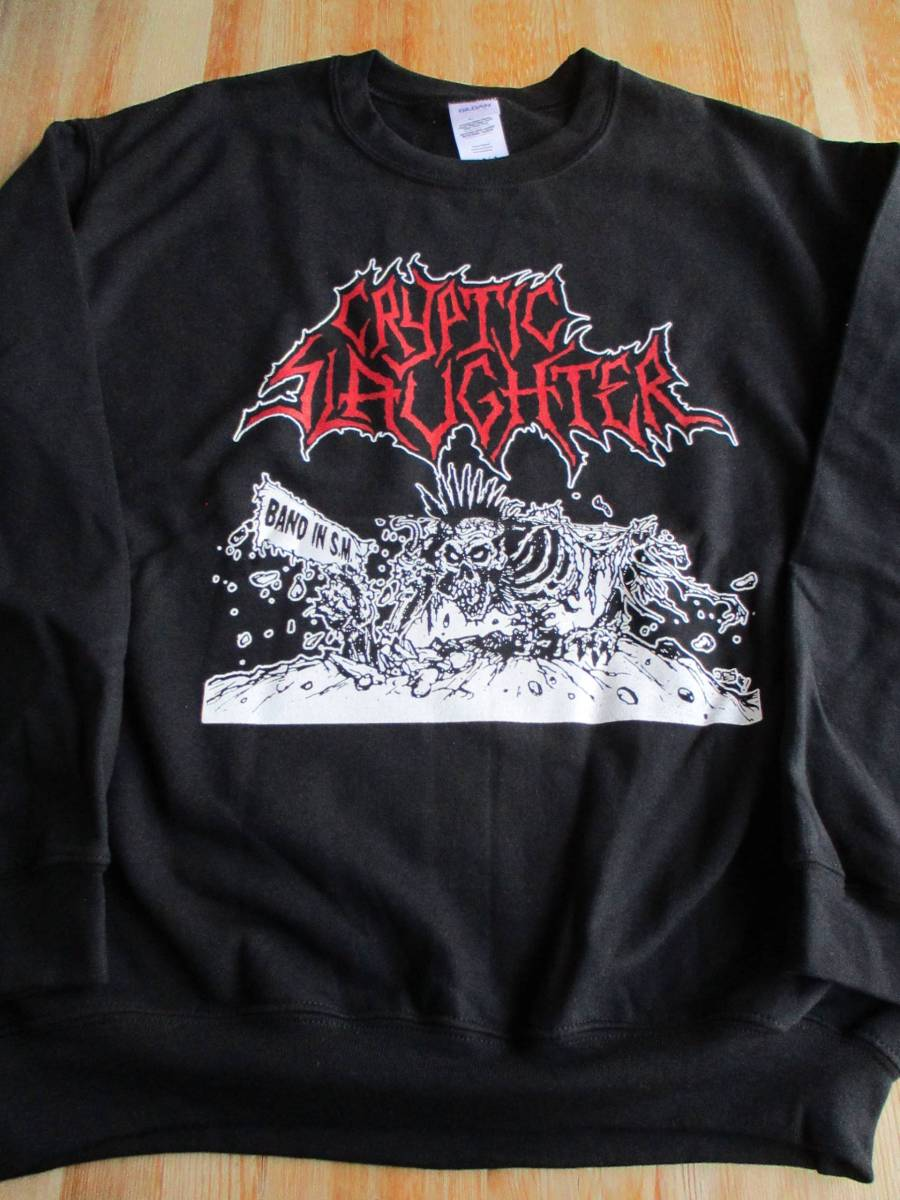 CRYPTIC SLAUGHTER スウェット 黒M / d.r.i. attitude adjustment s.o.d. accused repulsion napalm death