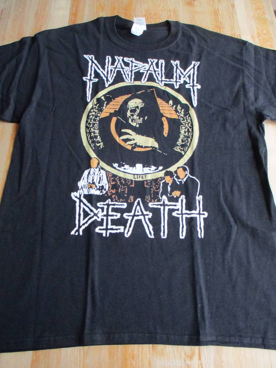 NAPALM DEATH Tシャツ life? 黒L ナパーム・デス / carcass terrorizer brutal truth earache doom discharge