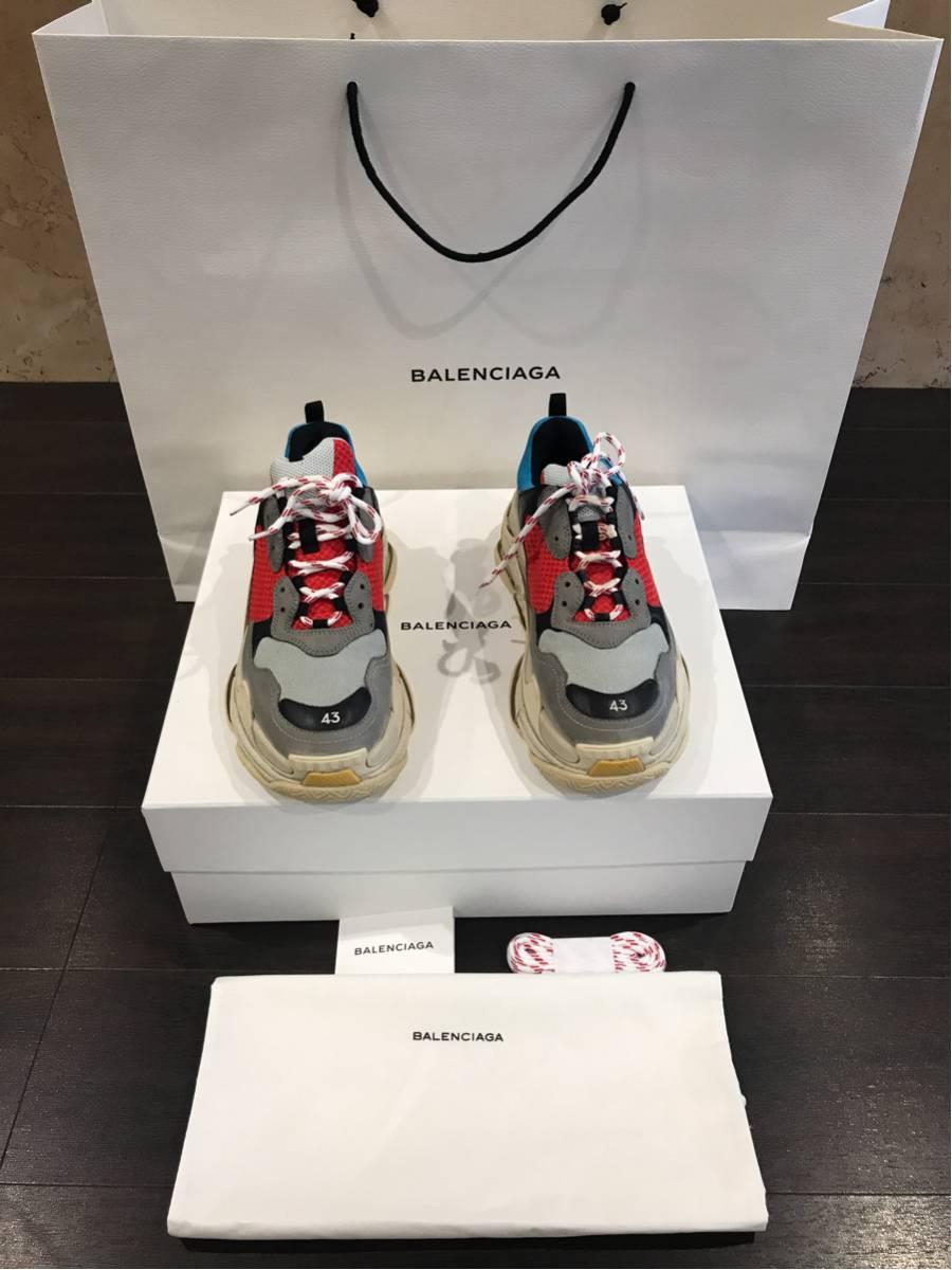 本日発売 balenciaga triple S 43国内正規品 付属品完備 バレンシアガ