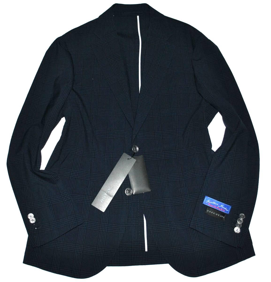 【新品タグ付き】HILTON ヒルトン グレンチェック 濃紺 最高級 ジャケット size L