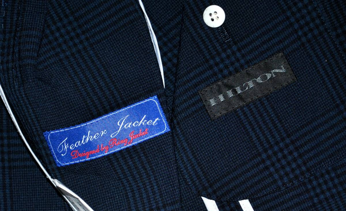 【新品タグ付き】HILTON ヒルトン グレンチェック 濃紺 最高級 ジャケット size L_画像3