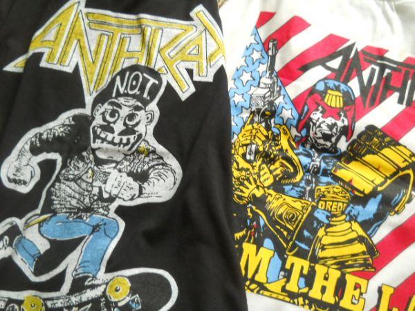 未使用 古着 Tシャツ ビンテージ 2枚 アンスラックス Anthrax スラッシャー