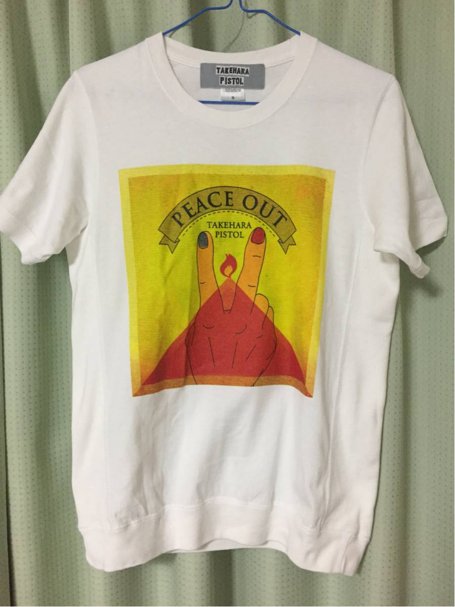 竹原ピストル PEACE OUT 2017 ツアースケジュールTシャツ Sサイズ 美品