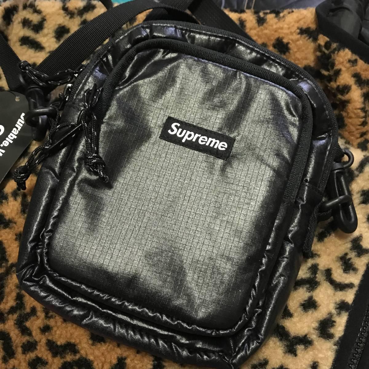 【即完売人気定番モデル】Supreme 2017aw/fw week1 Shoulder Bag ブラック