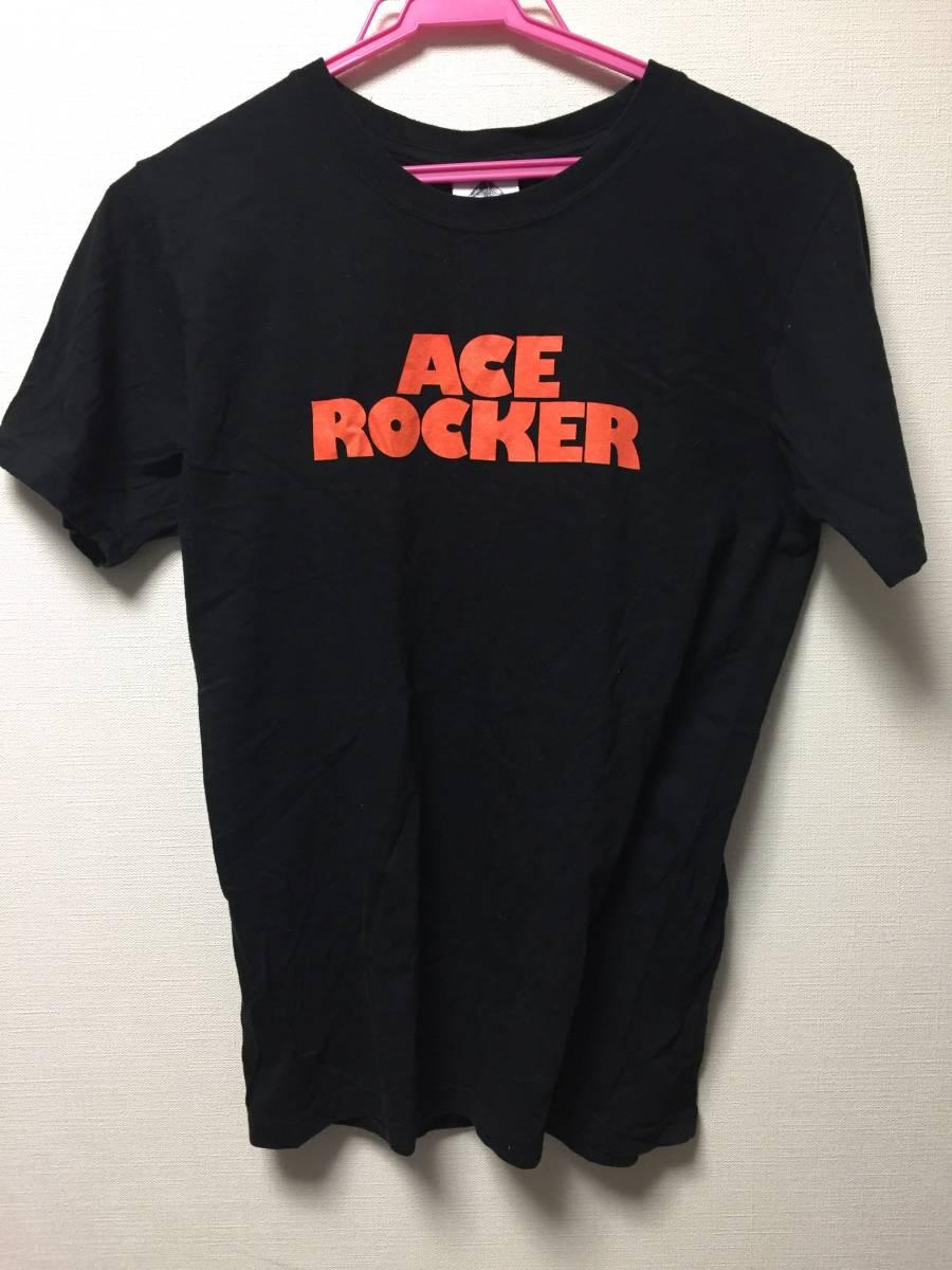 ザ・クロマニヨンズ ACE ROCKER エースロッカー ライブツアー Tシャツ used 黒 ブルーハーツ ハイロウズ 甲本ヒロト 真島昌利 ライブグッズの画像