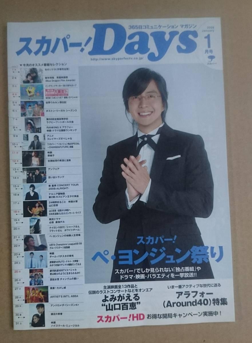 ペ・ヨンジュン◆非売品冊子◆スカパー!Days 2008.1