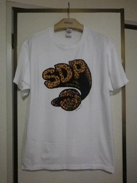 レア SDP スチャダラパー 幻のロゴ レオパード柄 Tシャツ Lサイズ ホワイト