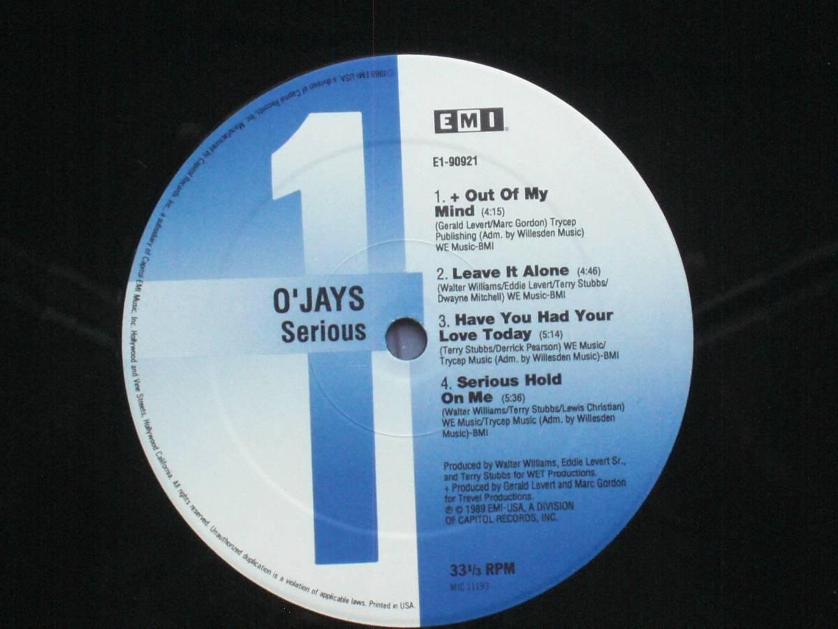 USオリジナル盤LP The O'Jays / Serious  (EMI USA E1-90921 )★ ☆_画像3