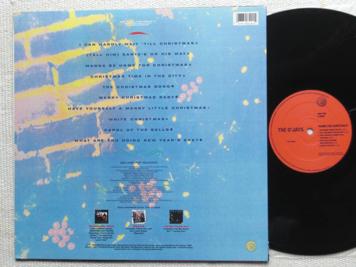USオリジナル盤LP The O'Jays / Home For Christmas  (EMI Records USA EI-96420 )★ ☆_画像2