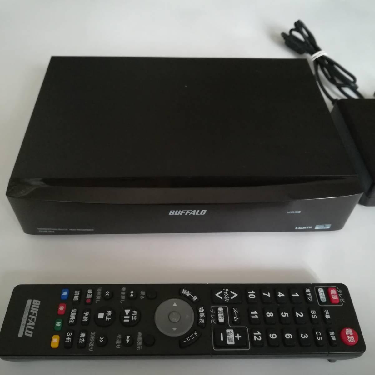 【完動品】【3波W録】【1TB】【USB HDD対応】BUFFALO バッファロー Wチューナー搭載 HDDレコーダー DVR-W1