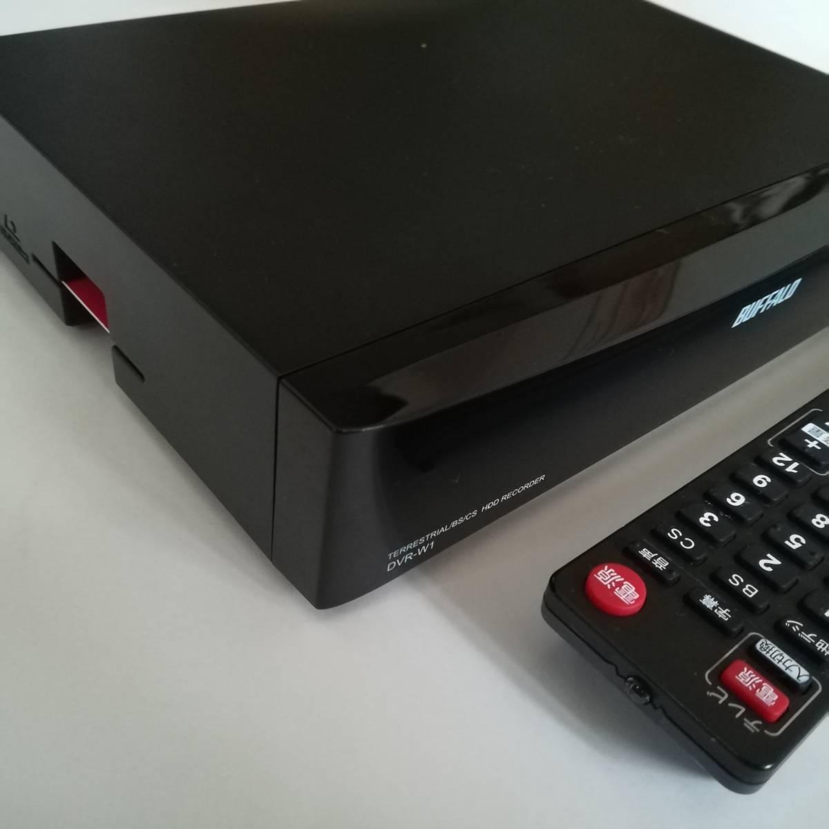 【完動品】【3波W録】【1TB】【USB HDD対応】BUFFALO バッファロー Wチューナー搭載 HDDレコーダー DVR-W1_画像2