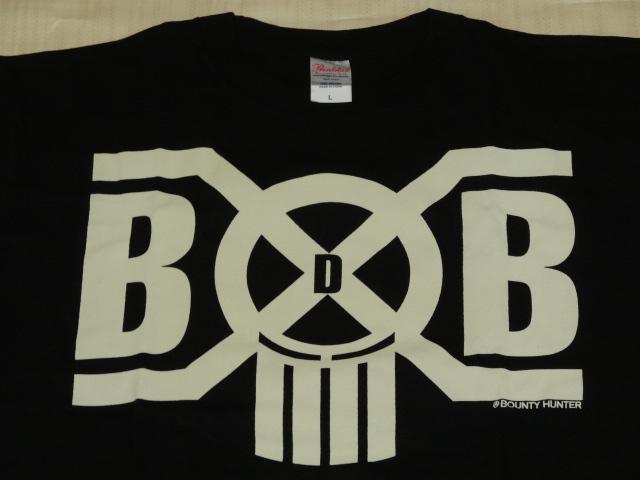 新品/BOUNTY HUNTER × BACK DROP BOMB コラボTシャツLサイズ/バウンティーハンター バックドロップボム