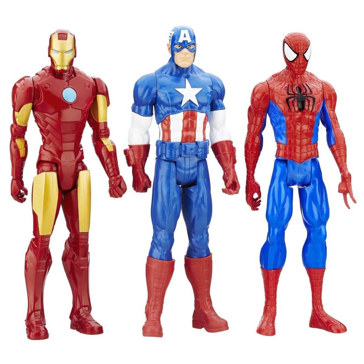 マーベル タイタンヒーロー Marvel Titan Hero キャプテン・アメリカ アイアンマン スパイダーマン フィギュア セット グッズの画像