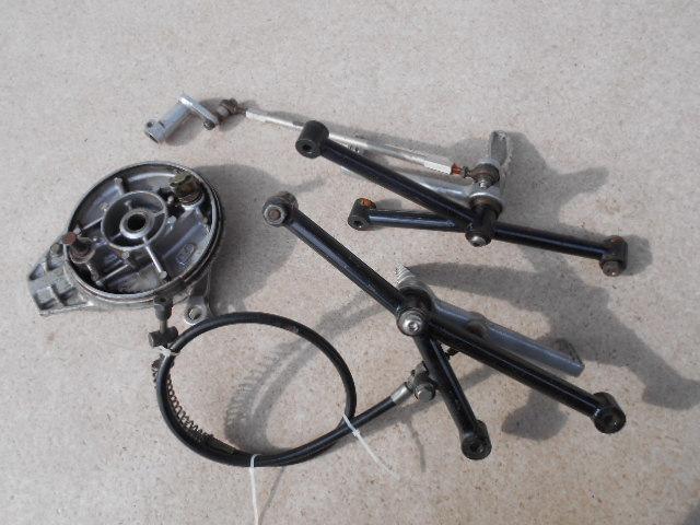 クラブマン GB250用 カーサスタッフ MCS バックステップ ワイヤー引き 中古品 当時物 希少品 レア物 GB250Special CR250 カフェレーサー_画像3