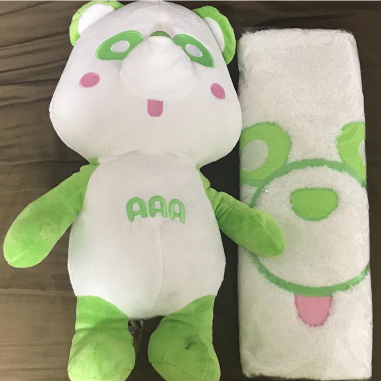 浦田直也 AAA え~パンダ スペシャルBIGぬいぐるみ もこもこルームマット 2種セット グリーン 緑